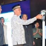 Walikota saat peluncuran penggunaan parkir meter di Ballroom Grand Inna Muara Hotel Padang, Kamis (1/9).