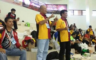 Budi Syukur bersama Tim Monitoring Hartono dan Darmawansyah.