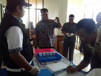 Anggota DPRD Payakumbuh tes urine