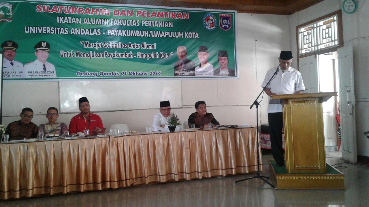 Silaturahmi IKA Fakultas Pertanian UNAND - Paliko, Benny Warlis Dilantik sebagai Ketua