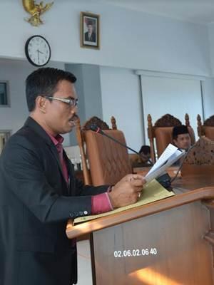 Juru Bicara Fraksi PAN DPRD Limapuluh Kota Yosrizal