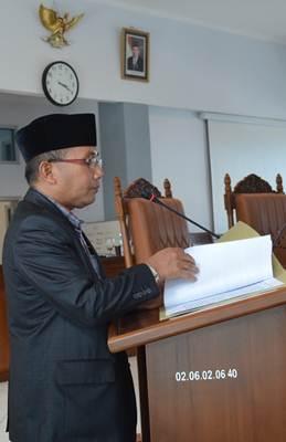Juru Bicara Fraksi PPP DPRD Limapuluh Kota Ermizal Jalinus
