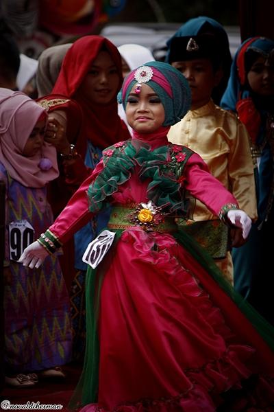 Lomba busana muslimah Bagodang Payakumbuh 2016
