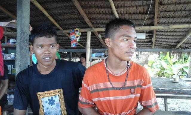 Dua Orang Nelayan Kota Pariaman Rohib dan syaiful Selamat dari amukan badai