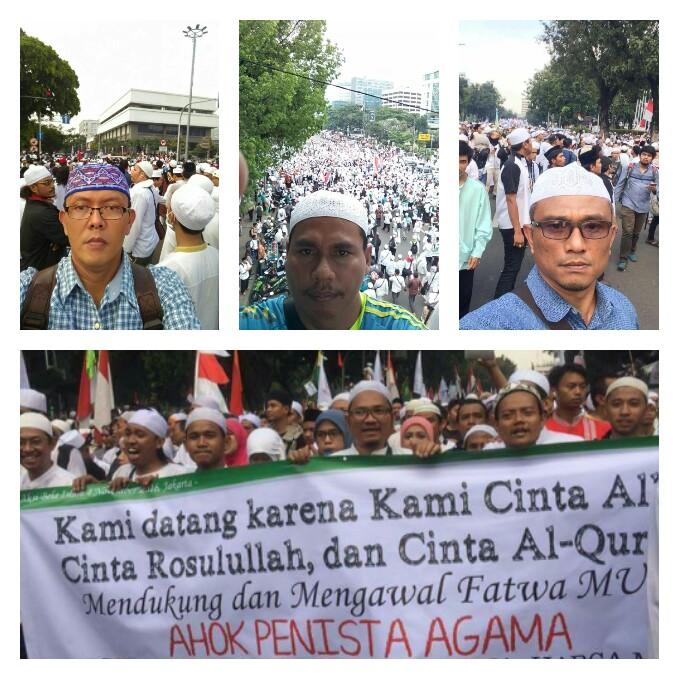 Anggota DPRD Payakumbuh dalam aksi damai yang digelar di Jakarta 4 november 2016