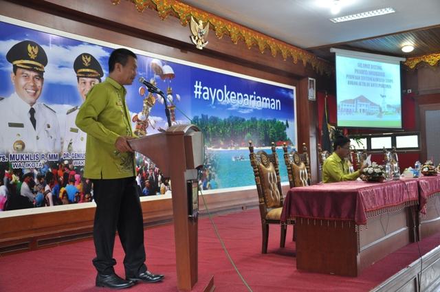 Wakil Walikota Pariaman, Genius Umar saat memberikan sambutan