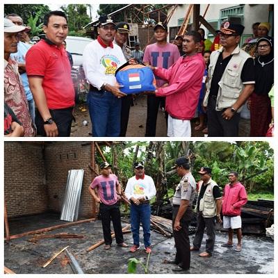 Irfendi Arbi Serahkan Bantuan Korban Kebakaran di Padang Ambacang