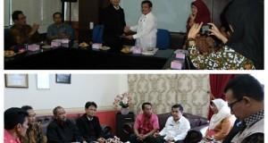 Ketua LPPM IPB menyerahkan naskah kerjasama kepada Sekdako H. Benni Warlis, di Balaikota, Jumat.