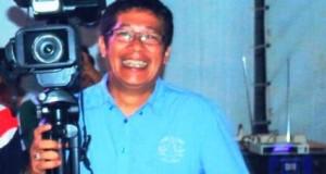 Manajer Denai TV Payakumbuh, Wandi Syamsir di saat Porprov XIV (f-Jentra)