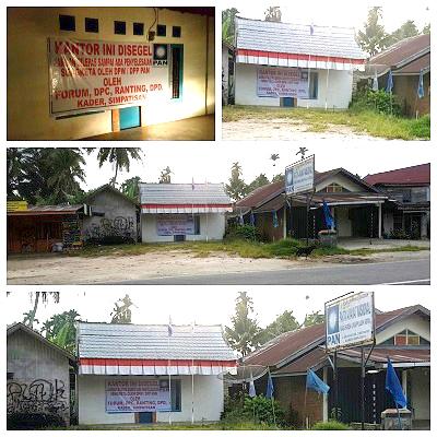 Kantor DPD PAN Limapuluh Kota Disegel Kader