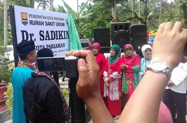 Walikota Pariaman Mukhlis Rahman Resmikan RSUD dr. Sadikin Pariaman
