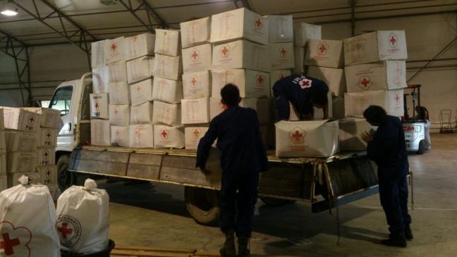 PMI mempersiapkan barang bantuan yang akan didistribusikan untuk warga yang terdampak gempa di Pidie Aceh. (Doc PMI)