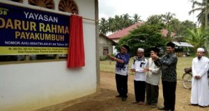 Walikota Resmikan Sekretariat Yayasan Darur Rahmah Payakumbuh