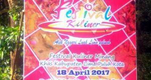 Festival Kuliner Minang Khas Kabupaten Limapuluh Kota dan Festival Sate se-Sumatera Barat Digeber Selasa-Rabu