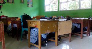 Siswa dan Majelis Guru SMP 4 Payakumbuh Berhamburan Mendengar Sirine Gempa
