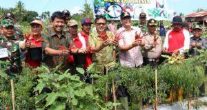 Gubernur dan Kepala BI Sumbar Panen Cabe di Payakumbuh