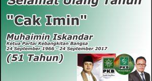 Selamat HUT Cak Imin Muhaimin Iskandar Ketua PKB