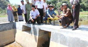 Mengaliri 70 Hektar Sawah, Embung Ngalau Bukik Limbuku Diresmikan