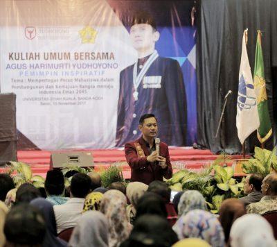Beri Kuliah Umum di Unsyiah Kuala, AHY: Ada Mie Aceh Cabang New York! #AHYSaweuAceh