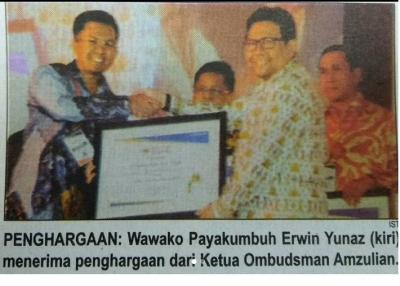 Wawako Erwin Yunaz terima Penghargaan Kota Pelayanan Publik Terbaik ke-3 Nasional