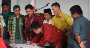 Penandatanganan Kesepakatan Koalisi Pilkada Koalisi 50 Oke oleh Pimpinan 5 Partai