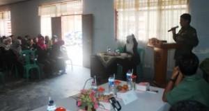 Wakil Bupati Lima Puluh Kota Drs. H. Asyirwan Yunus, M.Si Saat Memberikan Sambutan Pada Pembukaan Penyuluhan Narkoba Pada Terhadap Anak di Gedung UDKP Kecamatan Suliki(1)