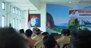 Rapat koodinasi Wali Nagari se-Kabupaten Limapuluh Kota.