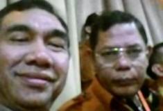 Ketua DPC MKGR Payakumbuh Ir Mediar Indra MSi dan Sekretaris MKGR Sumbar Afrizal