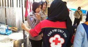 KSR PMI Unit UNP di Sungai Naniang, Bukik Barisan, Limapuluh Kota.
