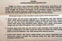 Larangan Valentine