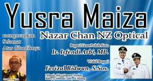 Ucapan Selamat Bupati dan Wakil Bupati Lima Puluh Kota dari Yusra Maiza, Nazar Chan NZ Optical