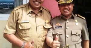 Bersama Ketua PC Anshor Kota Payakumbuh Bakhtaruddin, Wakil Bupati Limapuluh Kota Ferizal Ridwan.
