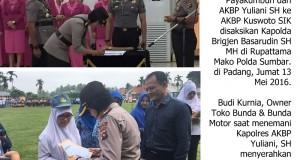 Kapolres Yuliani Sertijab AKBP Kuswoto, Budi Bunda Motor: Kapolres yang Dekat Masyarakat