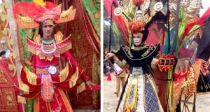Karya desainer Payakumbuh Berry dan Ikhsan yang menang Lomba Minangkabau Fashion Carnaval 2016