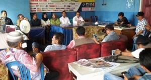 KPU dan Panwaslih Kota Payakumbuh Konferensi Pers di Balai Wartawan
