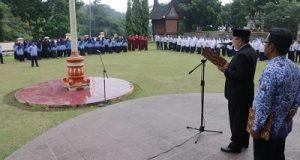 Wakil Walikota Payakumbuh H Suwandel Muchtar membacakan pidato Hari Kebangkitan Nasional.