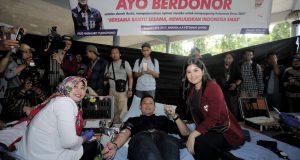 Di Unhas, AHY Ajak Mahasiswa Mendonorkan Darah