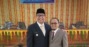 Ketua KONI, Disambut Walikota dan Sukses Payakumbuh di HUT ke-47. Walikota H Riza Falepi dan Ketua KONI H Yusra Maiza.